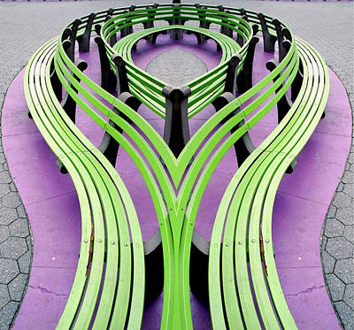 Mobius Bench Poster by Jim DeLillo