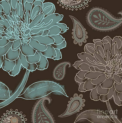 Mocha And Paisley Poster by Mindy Sommers
