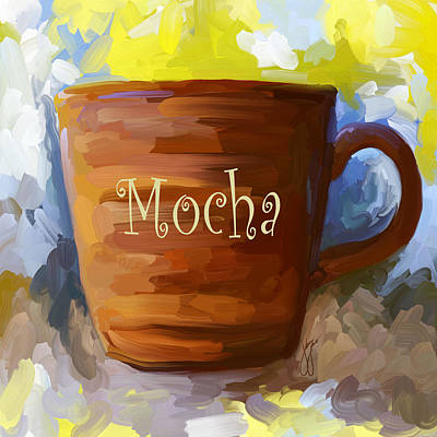 Mocha Coffee Cup Poster by Jai Johnson