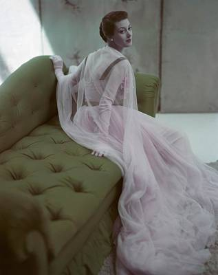 Model Barbara Mullen Is Wearing A Pink Poster by Conde Nast