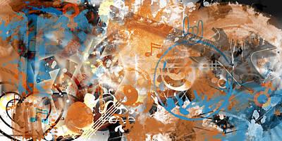 Modern-art Beyond Control II Poster by Melanie Viola