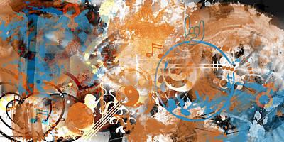 Modern Art Beyond Control Poster by Melanie Viola