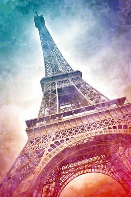 Modern-art Eiffel Tower 21 Poster by Melanie Viola