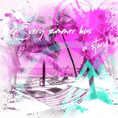 Modern Art One Summer  Poster by Melanie Viola