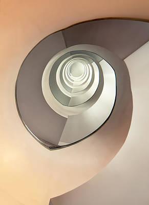 Modern Spiral Concrete Staircase Poster by Jaroslaw Blaminsky