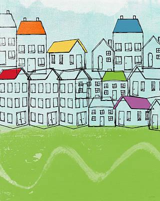 Modern Village Poster by Linda Woods