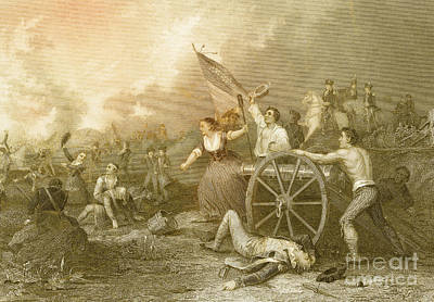 Molly Pitcher At The Battle Of Monmouth Poster by Photo Researchers