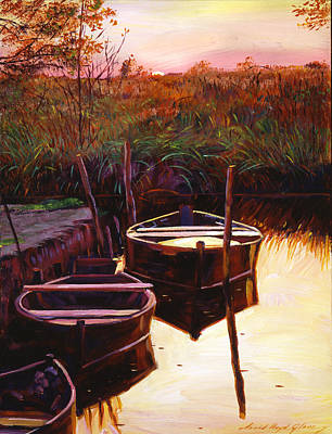 Moment At Sunrise Poster by David Lloyd Glover