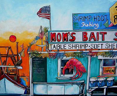 Moms Bait Shop Poster by Patti Schermerhorn