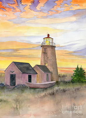Monhegan Island Lighthouse Poster by Melly Terpening