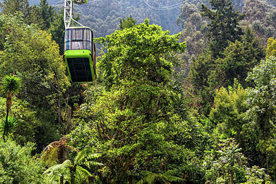Monserrate Aerial Tramway View Poster by Jess Kraft