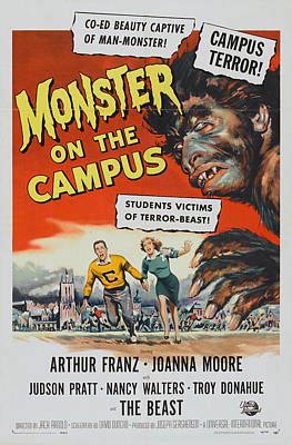 Monster Of The Campus Poster by Mountain Dreams