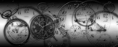 Montage Of Old Pocket Watches Poster by Panoramic Images