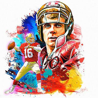 Joe Montana 1 Poster by Chaz Salazar
