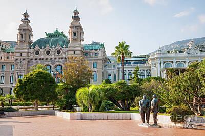 Monte Carlo Casino And Gardens, Monaco Poster by Elena Elisseeva