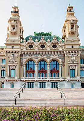Monte Carlo Casino In Monaco Poster by Elena Elisseeva