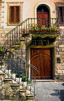 Montalcino - Quaint Entryway Poster by Linda  Parker