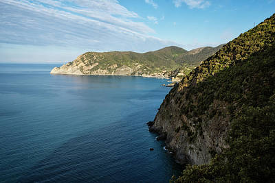 Monterosso And The Cinque Terre Coast Poster by Joan Carroll
