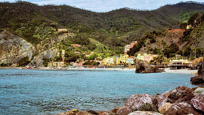Monterosso Cinque Terre Italy Poster by Joan Carroll