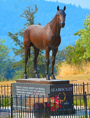 Monument To Seabiscuit Poster by Josephine Buschman