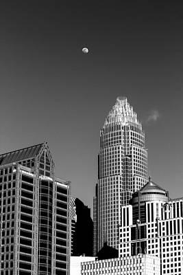 Moon Over The Queen City Poster by Robert Yaeger