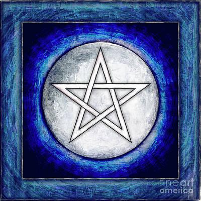 Moon Pentagram Poster by Dirk Czarnota