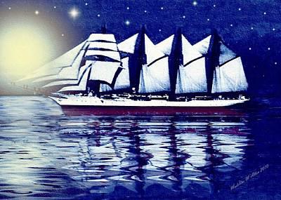 Moonlit Sails Poster by Madeline  Allen - SmudgeArt