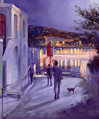 Moonlit Start Poster by Timothy Easton