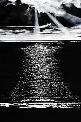 Moonrise Over The Atlantic  Poster by Denise Goldstein