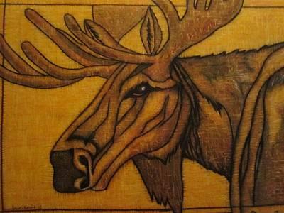 Moose Head Poster by Lauri Kraft