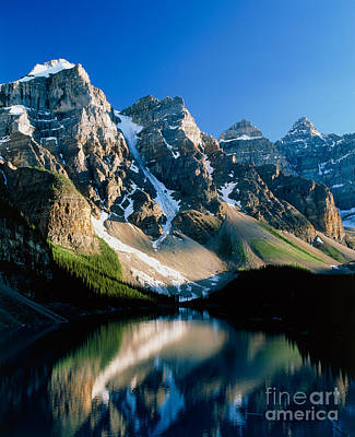 Moraine Lake Poster by David Nunuk