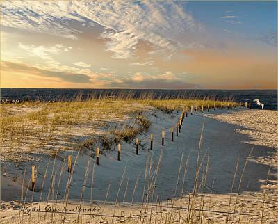 Morning At The Beach Poster by Wynn Davis-Shanks