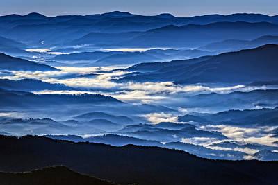 Morning Mist In The Smokies Poster by Rick Berk