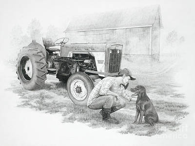 Morning On The Farm Poster by Stephen McCall