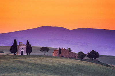 Morning Prayer In A Tuscan Dawn Poster by Andrew Soundarajan