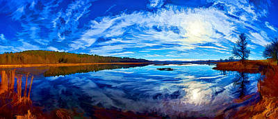 Morning Reflections At The Moosehorn Poster by Bill Caldwell -        ABeautifulSky Photography