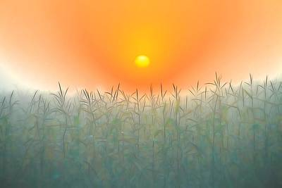 Morning Sky On The Farm Poster by Dan Sproul