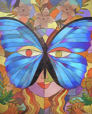 Morpho Mask Poster by Deborah Wenzel