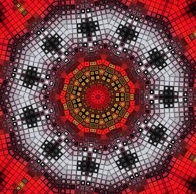 Mosaic Kaleidoscope 2 Poster by Shawna Rowe