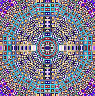 Mosaic Kaleidoscope  Poster by Shawna Rowe