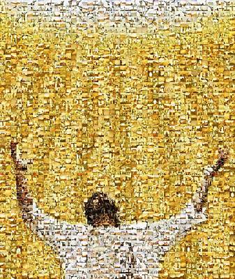 Mosaic Of A Jesus Christ Poster by Kelly Redinger