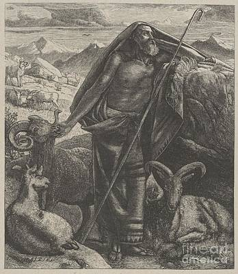 Moses Keeping Jethro's Sheep Poster by Celestial Images