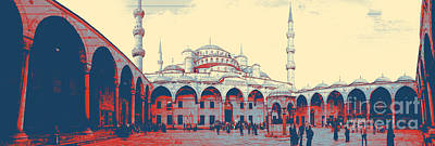 Mosque In Turkey Poster by Celestial Images
