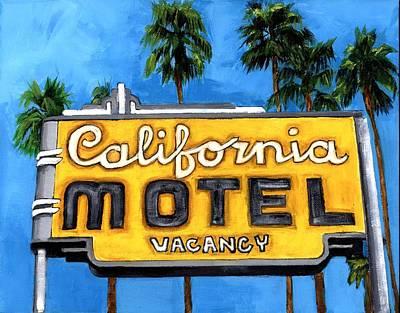 Motel California Poster by Debbie Brown