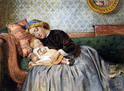 Mother And Child Poster by George Goodwin Kilburne