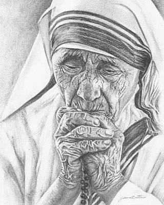 Mother Teresa Poster by Jeanne Beutler