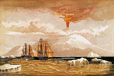 Mount Erebus, Antarctica, 1868 Poster by Wellcome Images