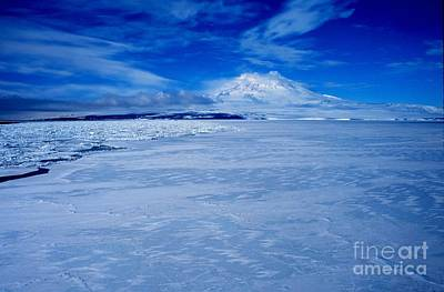 Mount Erebus On Ross Island Poster by Celestial Images