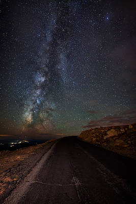 Mount Evans Road To The Milky Way Poster by Mike Berenson