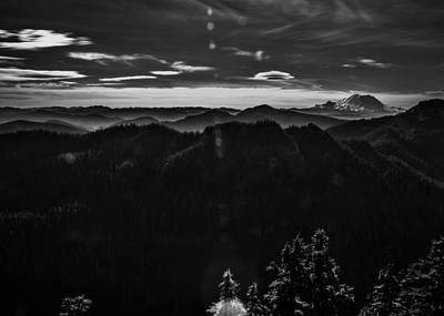 Mount Rainier With Rolling Hills Poster by Pelo Blanco Photo